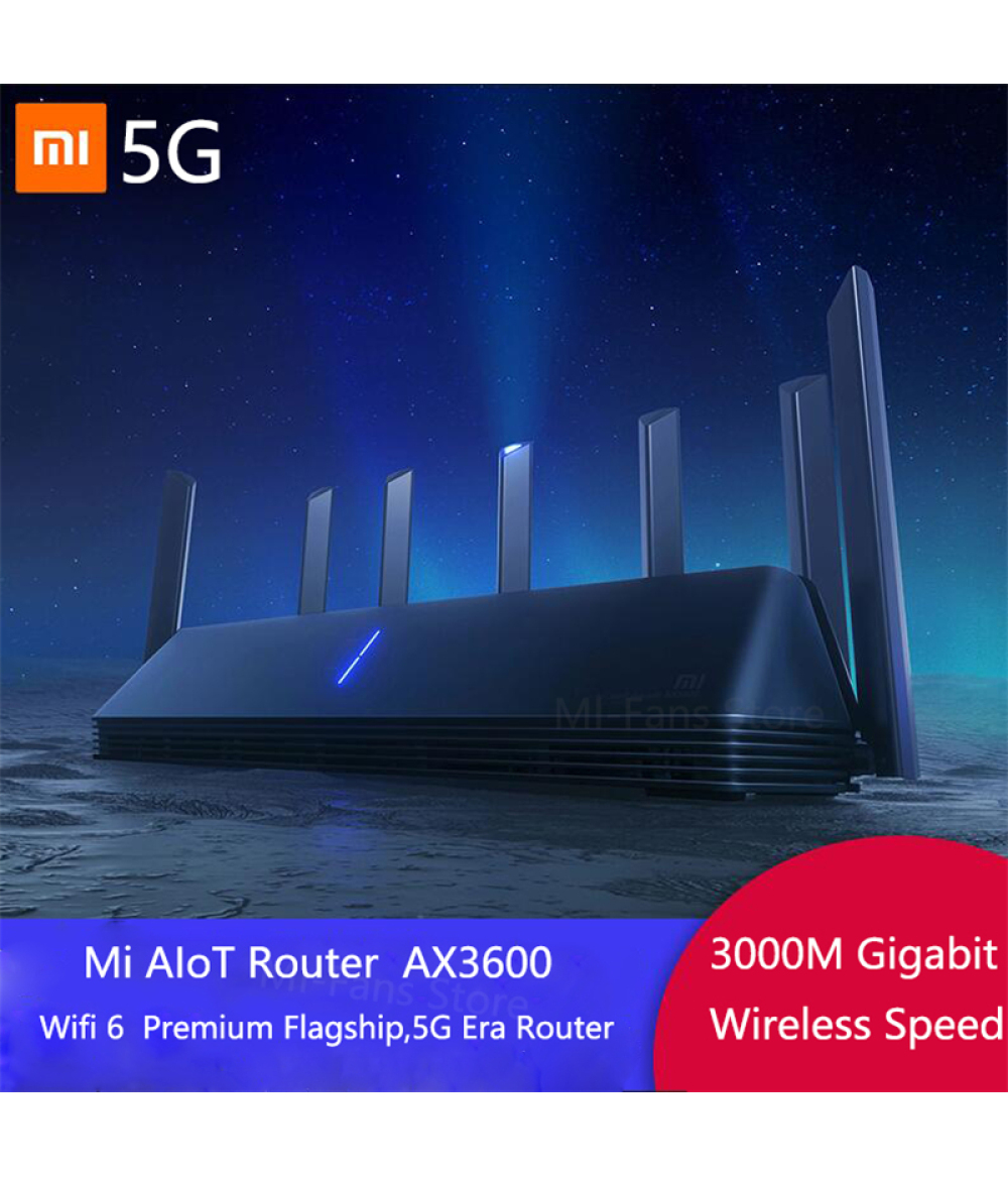 NEW Xiaomi AX3600 AIoT Router Wifi 6 5G WPA3 Wifi6 600Mb Dual-Band 2976Mbs Gigabit Rate Qualcomm A53 External Signal Amplifier modem