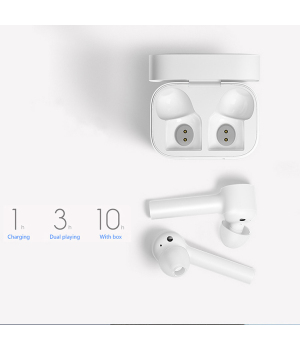 Xiaomi TWSEJ02JY Air TWSEJ02JY 2019 NEWest TWS bluetooth 5.0 earbud tiny headset + Charging Case for Sport Gym boy