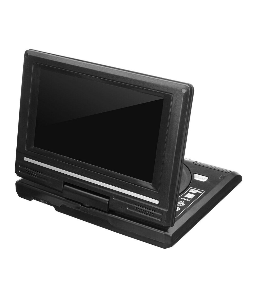 "7.5"" Portable DVD Player with Swivel Screen Built-in Rechargeable Battery"