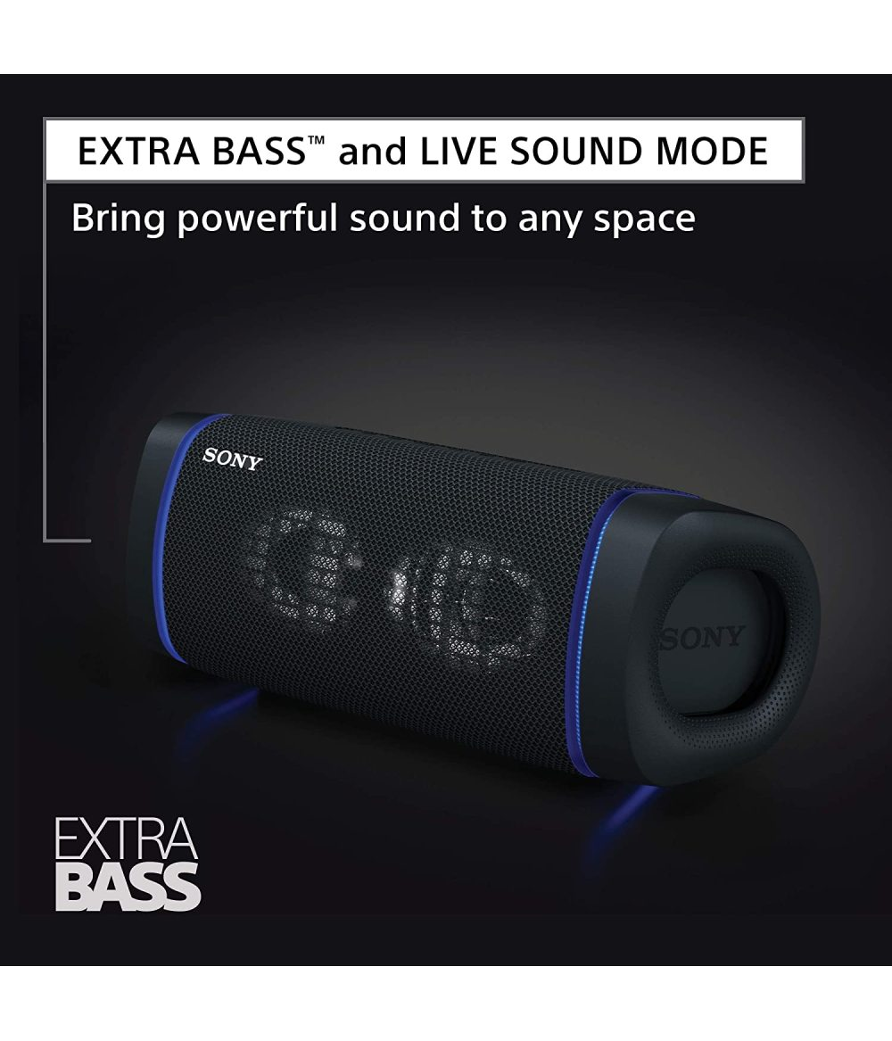 SRS-XB33 Waterproof Subwoofer Wireless Speaker Subwoofer One-click live sound effect Approximately 24 hours of battery life X-Balanced speaker unit IP67 waterproof and dustproof