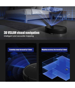 XIAOMI Original MIJIA Robot Vacuum Mop Wireless 1T S-cross™ 3D obstacle avoidance   3D VSLAM visual navigation   3000Pa super suction power   Integrated sweep and drag design