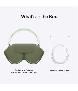 New product launch Apple AirPods Max-wireless Bluetooth headset noise-canceling sports headphones Active noise reduction Spatial audio High fidelity sound quality 20 hours battery life Green