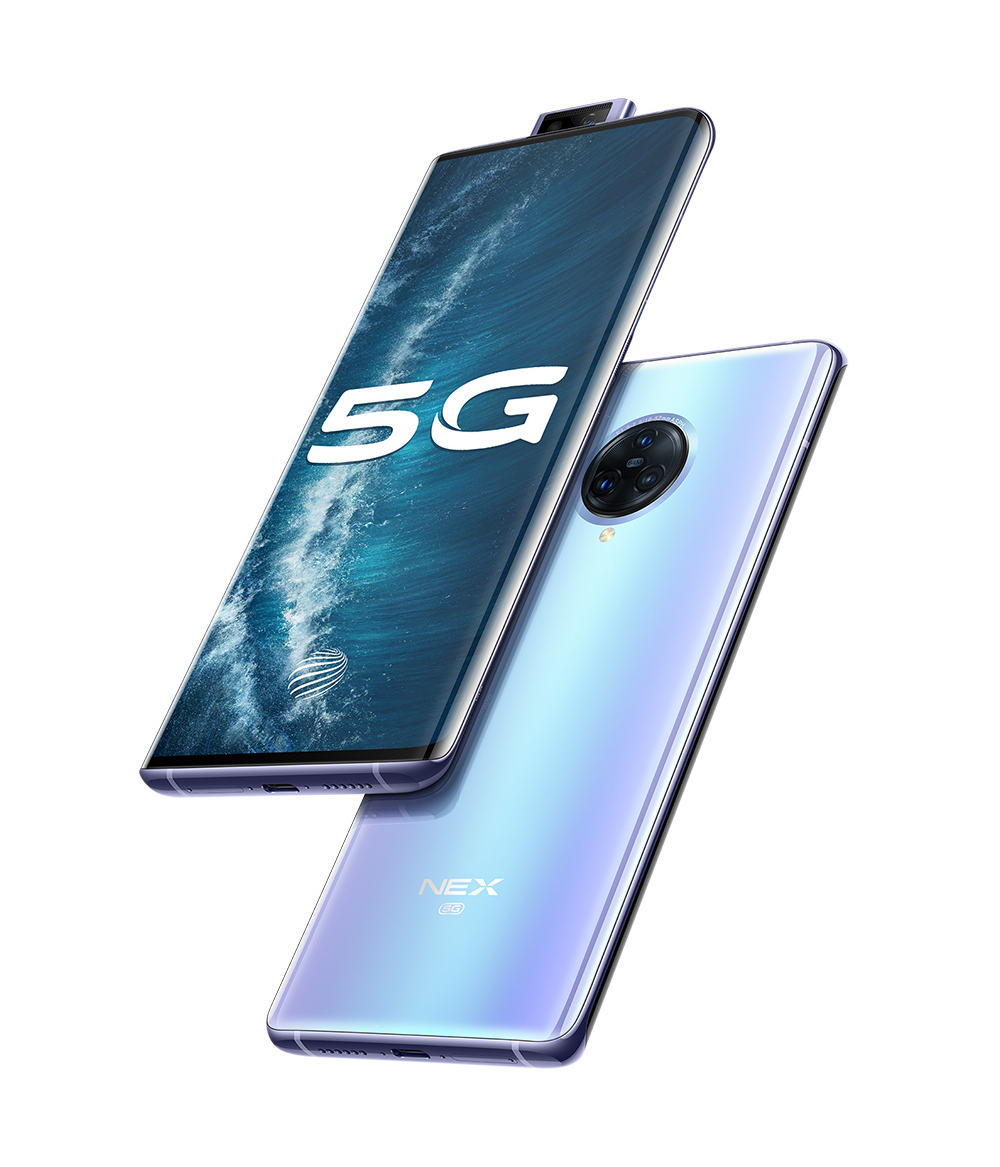 Original vivo NEX 3S 5G Mobile Phone 6.89 inch AMOLED Screen Snapdragon 865 Octa Core  12GB 256GB Celular 44W Fast Charging Camera 64MP Smartphone