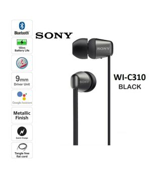 BRAND NEW Sony WI-C310 Wireless In-ear Headphones Black Binaural Sports Running Mobile Phone Computer Hanging Ear Headset Applicable to Apple Huawei Android Long Battery Life