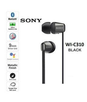 NAGELNEU Sony WI-C310 Drahtlose In-Ear-Kopfhörer Schwarz Binaural Sport Laufen Handy Computer Hängen Ohr Headset Anwendbar auf Apple Huawei Android Lange Akkulaufzeit