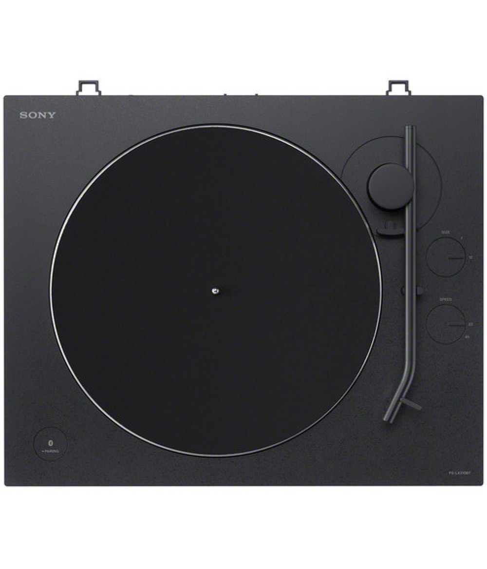 PS-LX310BT vinyl record player supports RCA connection and Bluetooth wireless transmission, easily enjoy the wonderful sound quality of vinyl, automatic playback function,