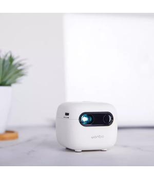 Xiaomi Wanbo Smart Projector 2G+16G RAM, Bluetooth 4.0 Small DPL Projection TV Four-corner trapezoid correction, 2.4G+5G dual-band WIFI Built-in 3800mah Battery