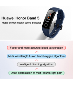 Original Huawei Honor Band 5 Touch Screen Swim Oximeter Touch Screen Magic Color Swim Heart Rate Detect Sleep Nap Honor Band 5 Smart Wristband