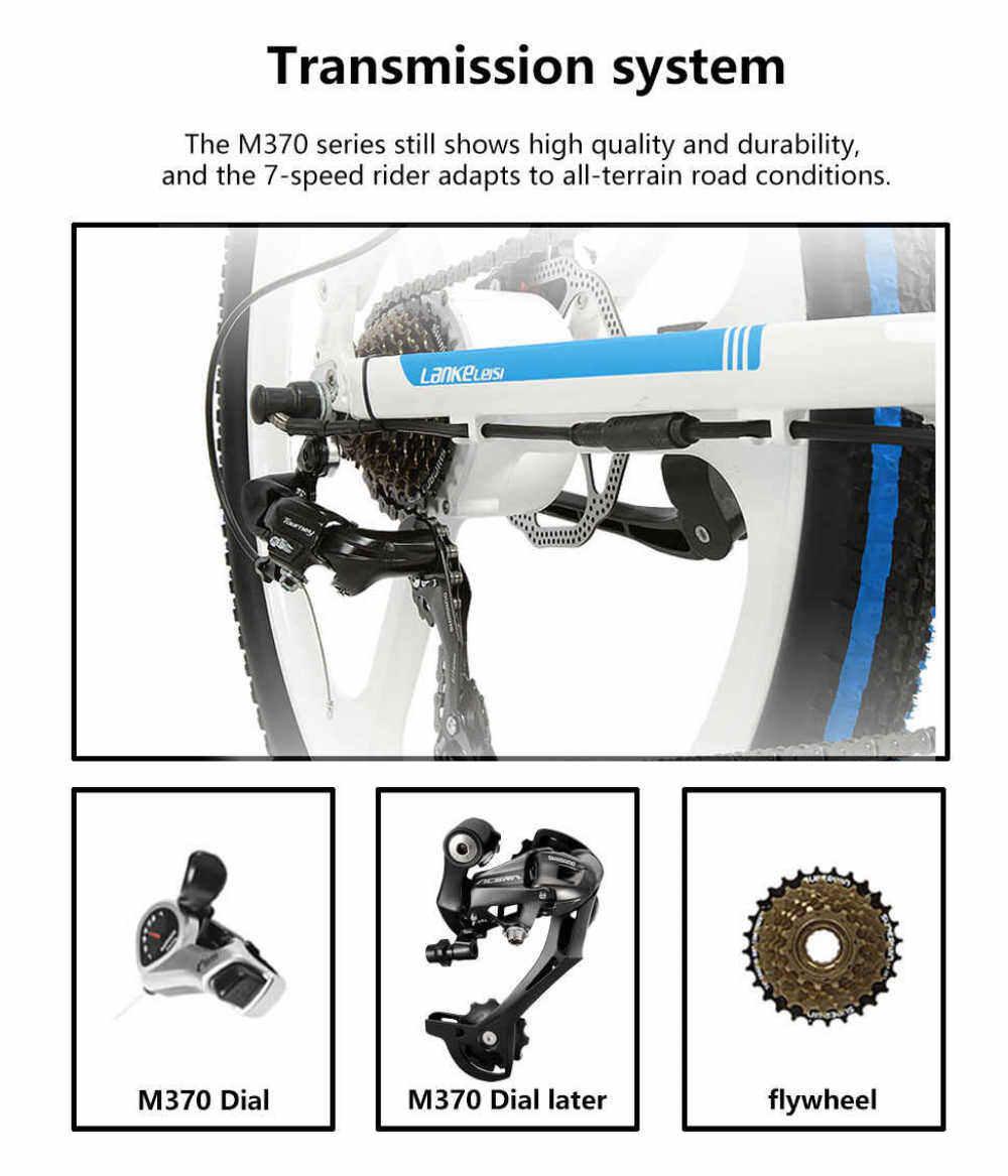 LANKELEISI XT750 400W 26 Inch Folding Power Assist Electric Bicycle 35km/h 70 - 90km Range 48V 10.4AH E-bike IP54 Waterproof STOCK Free shipping