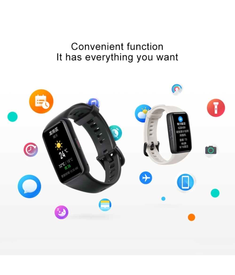 2020 new product Huawei Honor Band 6 Bracelet NFC blood oxygen heart rate monitor record blood oxygen monitor pedometer heart rate 14 days long battery life all-weather heart rate detection Bluetooth 5.0 music playback Atrial fibrillation screening