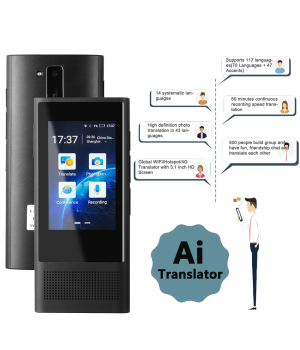 "Mecool W1 3.0 AI Voice Photo Translator 3.1 ""3.1"" IPS 4G WIFI 8GB Memory 2080mAh 117 Languages Portable OTG Offline Translation"