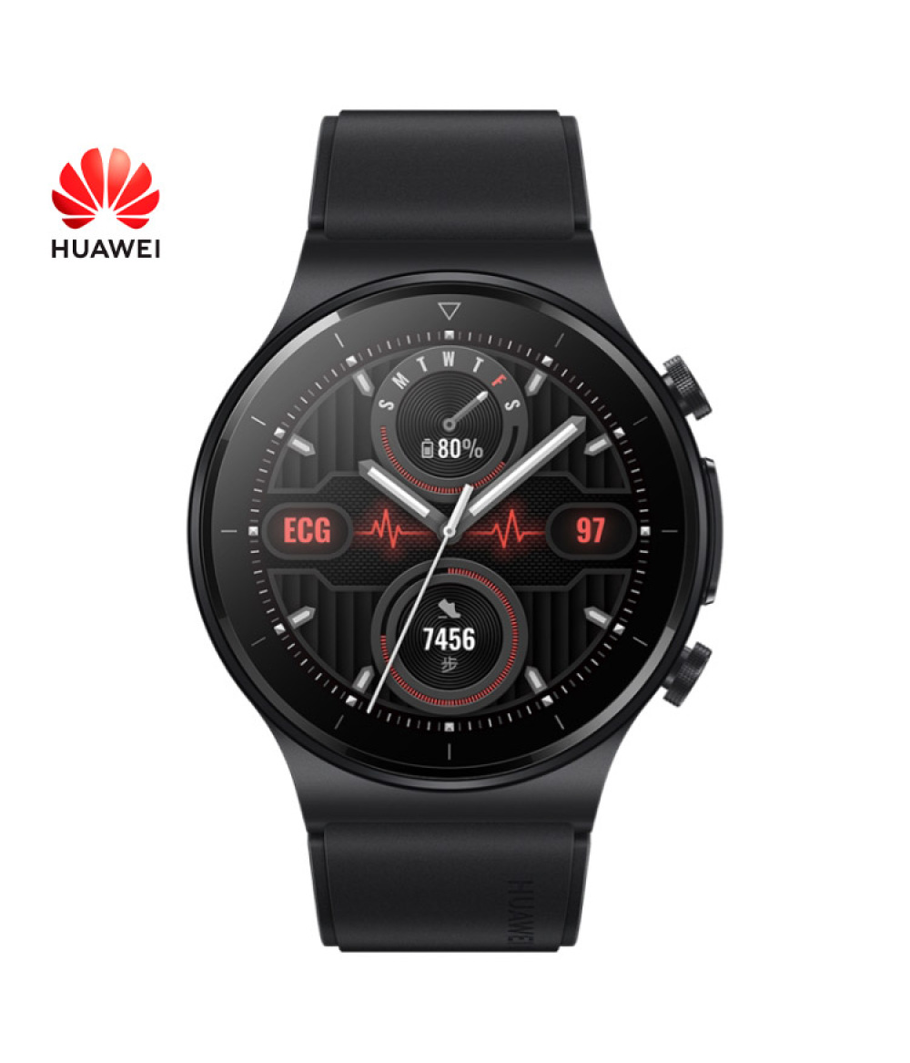 [ECG Model] HUAWEI WATCH GT 2 Pro ECG Model Obsidian Black (46mm) Two-week battery life ECG monitoring Sapphire mirror Titanium alloy body Ceramic back case Bluetooth call smart watch