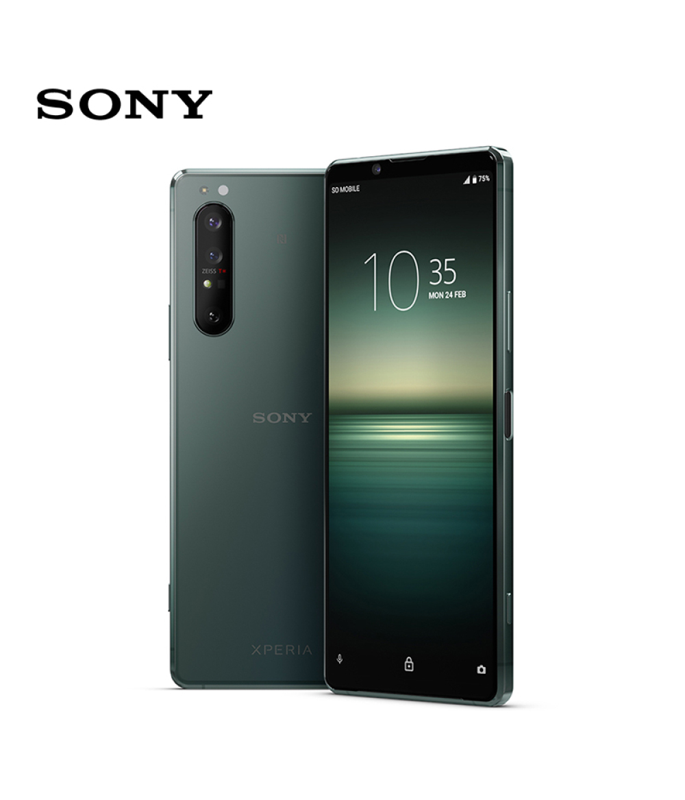 100% Sony Xperia 1 II 5G mobile phone Green Mountain Green 20fps AF/AE continuous shooting | Human/Animal eye focus | 5G dual mode*1 | 4K HDR 21:9 OLED screen | Qualcomm® Snapdragon™ 865 mobile platform Phone ByFedEx