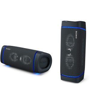 SRS-XB33 Wasserdichter Subwoofer Drahtloser Lautsprecher-Subwoofer Live-Soundeffekt mit einem Klick Ungefähr 24 Stunden Akkulaufzeit X-Balanced-Lautsprechereinheit IP67 wasserdicht und staubdicht