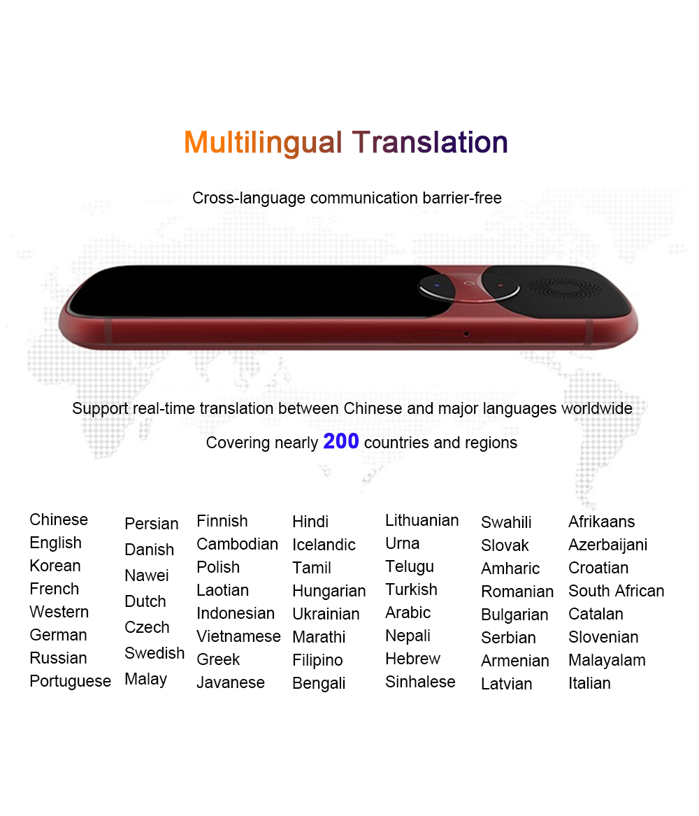 iFlytek 3.0 Easytrans 900 AI Instant Voice Translator Portable with 13Mp Camera support 200 Country Languages