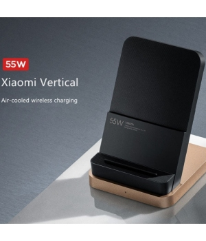Original XIAOMI 55W Wireless Charger vertical air-cooled flash charging safety protection charger 5g on-the-go, compatible with Mi 10 Extreme Edition/11, 100% full in 40 minutes