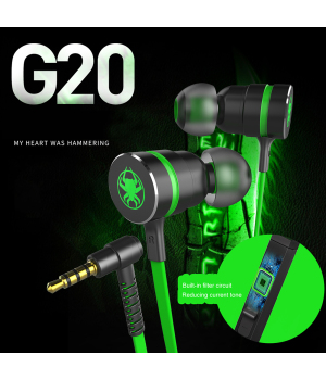 Gaming Headset PLEXTONE G20 In-ear Earphone Wired Magnetic PC Phone Gaming headset with microphone sports music gaming headset MP5 player