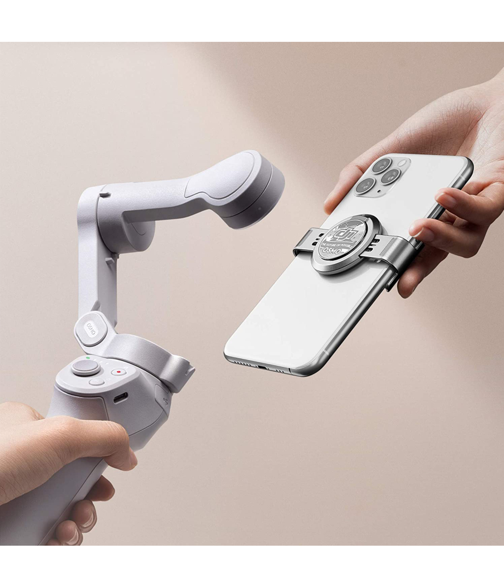 """Original DJI OM4 Foldable Phone Gimbal's magnetic quick release design makes it easier to disassemble and assemble the phone; gesture control, use the """"palm"""" or """"victory"""" gesture to trigger recording"""