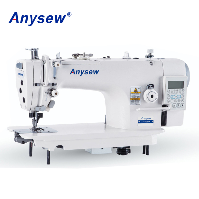 AS777DDI-4 High Speed Direct Drive Auto Trimmer Lockstitch Sewing Machine With Side Cutter