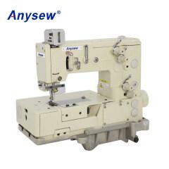 AS1302-4W Flat-bed Double Chain Stitch Picotting Sewing Machine Foggoting Zigzag Machine