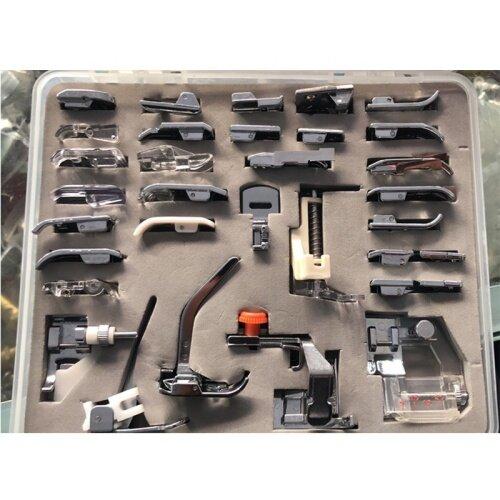 Household sewing machine multi-function presser 32 piece set