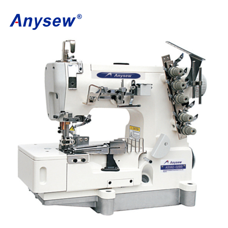AS562-02BB Flat Bed Interlock Sewing Machine Industrial Machine With Rolled-edge