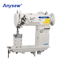AS1760N Post Bed Compound Feed Double Needle Heavy Duty Lockstitch Sewing Machine