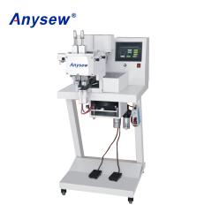 AS-198 Automatic four claws nail base button plastic peal attaching machine
