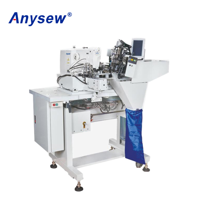 AS-254 Anysew Brand Double Needle Belt Loop Sewing Machine