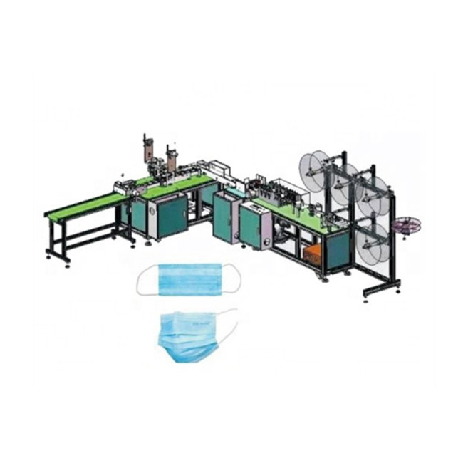 AS-Z-121 Full automatic single use three layers mask making machine (earloop mask) face mask machine