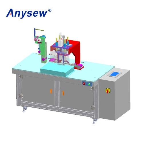 AS-836 Semi Automatic Mask Outer Ear Loop Welding Machine