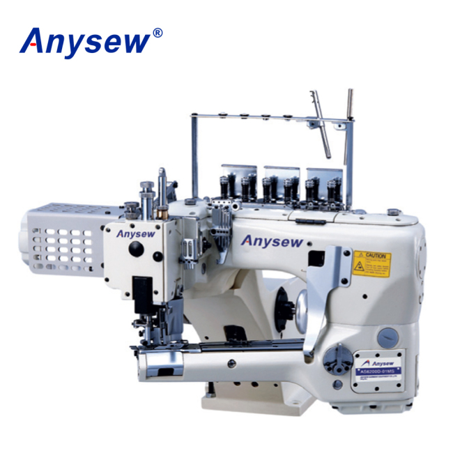 AS62G 4 Needle 6 Thread Flat Seam Sewing Machine Industrial Underwear Sewing Machine