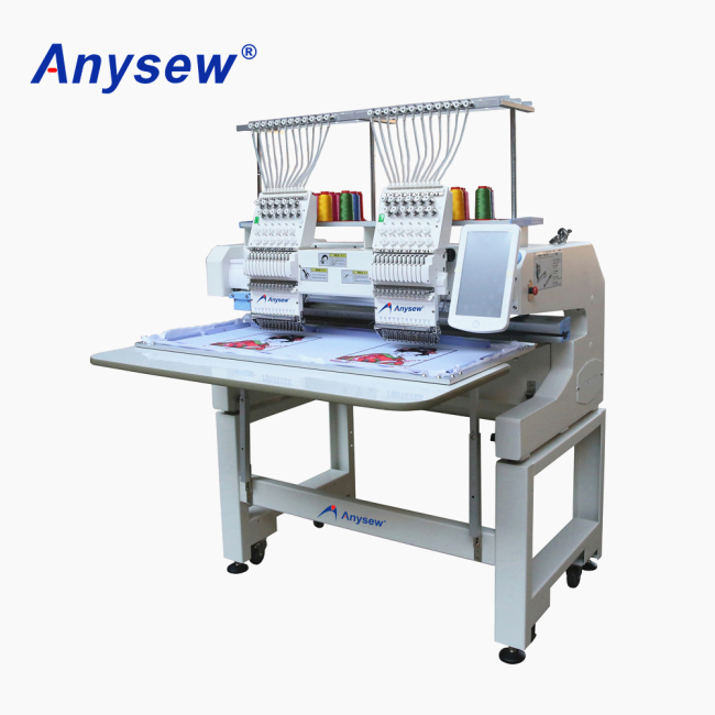 AS-1202H Double Head Embroidery Machine Automatic Cap Embroidery Machine