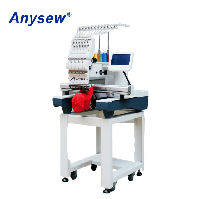 AS-1201TS Single Head Embroidery Machine Automatic Cap Embroidery Machine Logo