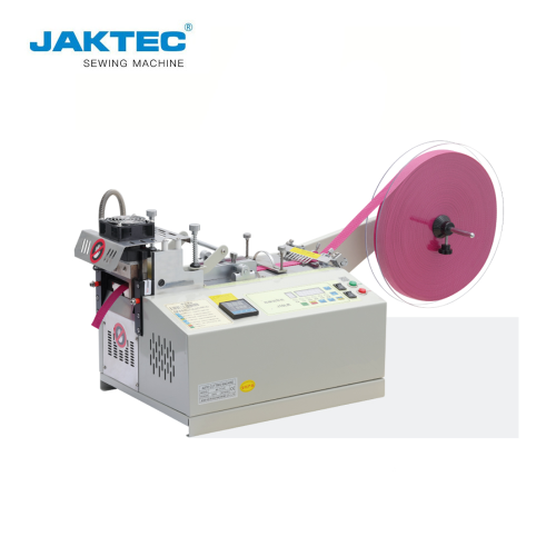 JK-110LR Economic belt loop cutter hot and cold knife Computerized Tape Cutting Machine