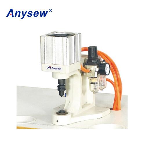 AS-Q1 1-head Pneumatic Snap Plastic Button Making Machine Snap Attaching Machine