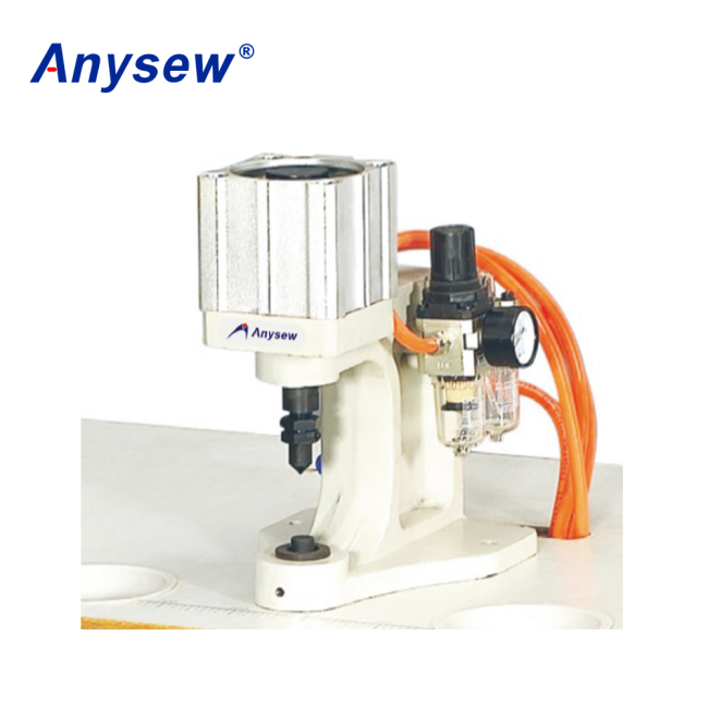 AS-Q1 1-head Pneumatic Snap Plastic Button Making Machine Snap Attaching Machine