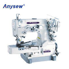 AS664-02BB  High speed cylinder bed interlock sewing machine with rolled edge
