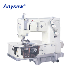 AS2000C  Double needle flat-bed belt loop sewing machine for garment