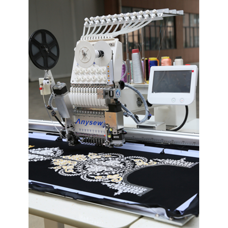AS1201 500*1200MM Single head 12 needles embroidery machine for flat/cap/finished garment