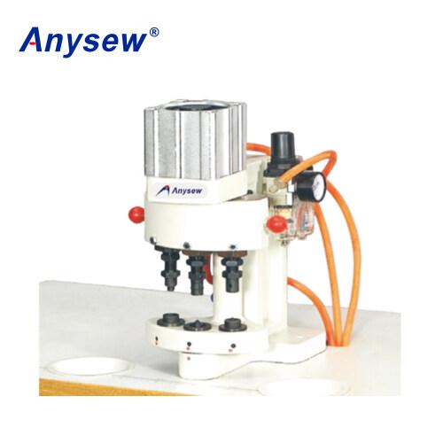 AS-Q3 3-head Pneumatic Snap Plastic Button Making Machine Snap Attaching Machine