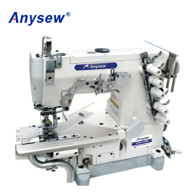 AS664-35BB Cylinder Bed Interlock Sewing Machine With Lift Cutter