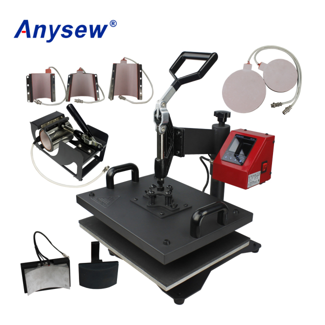 AS-8IN1 Multifunctional Heat Press Machine Heat Transfer Printing Machine For Cup Heating Machine