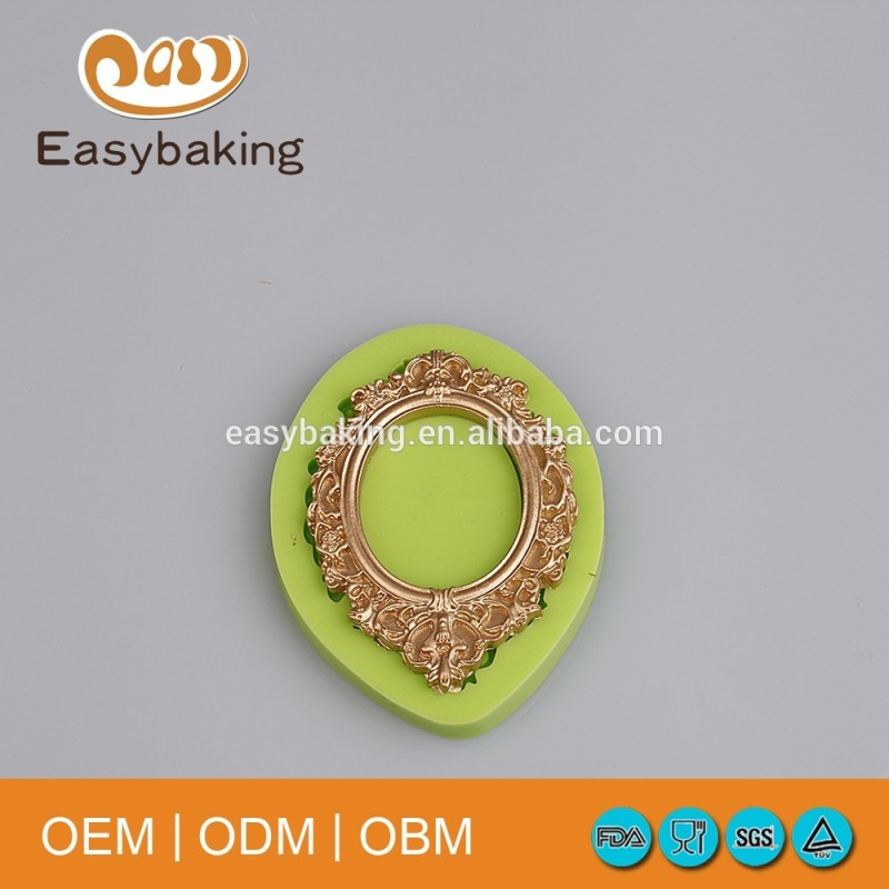 Wholesale Vintage Baroque Picture Frame Silicone Molds For Cake Decorating