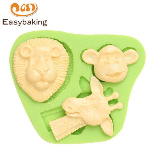 Animal Series Lovely Giraffe Monkey Silicone Molds for Cupcake Decor