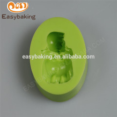 Wholesale different shaped customize sleeping baby girl silicone soap mould