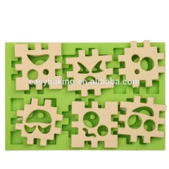 Guangdong low price building blocks shape silicone cupcake decoration molds