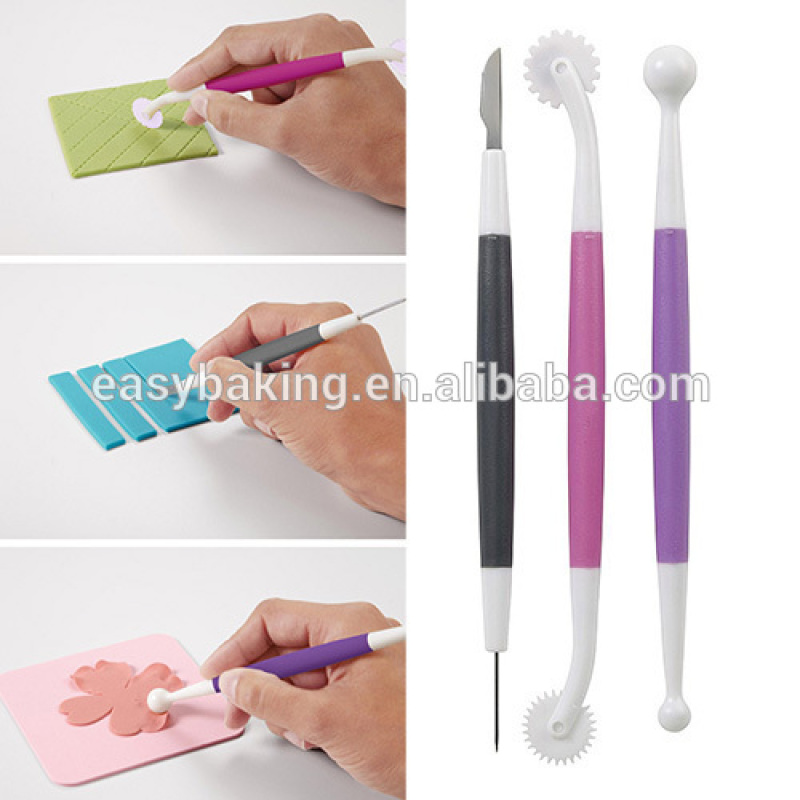 2015 NEW Arrival 3-PC Cake Decorating Tools Fondant and Gum Paste Starter Tool Set