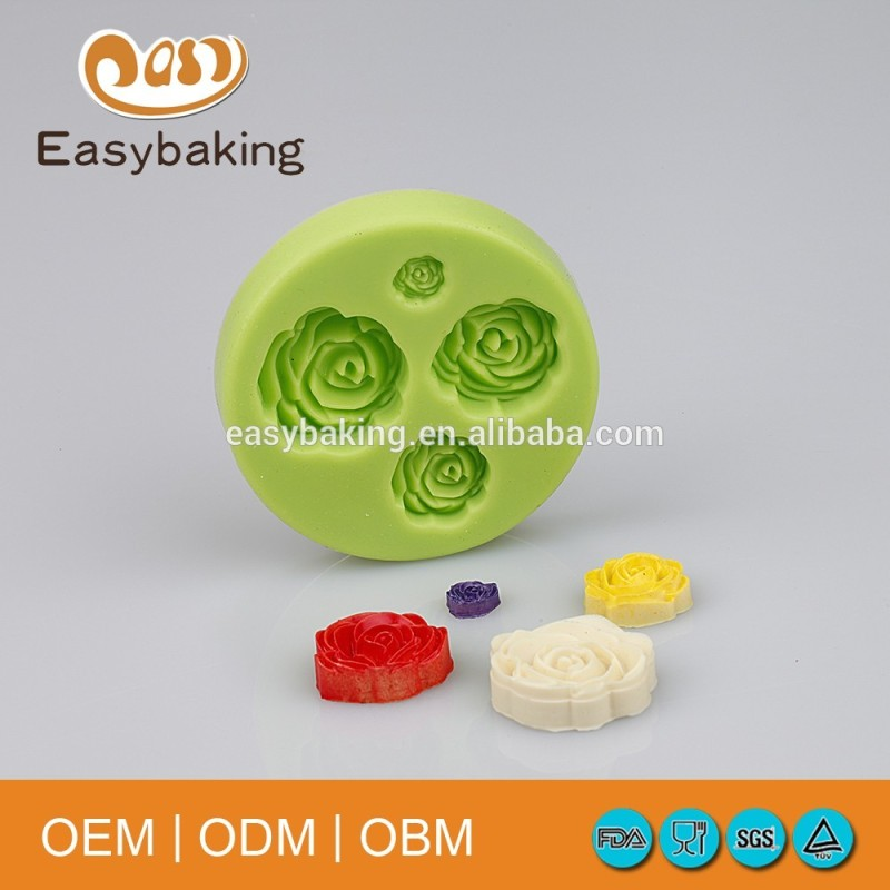 Classic 4 In 1 Daisy Gumpaste Rose Flower Silicone Cake Decorate Molds