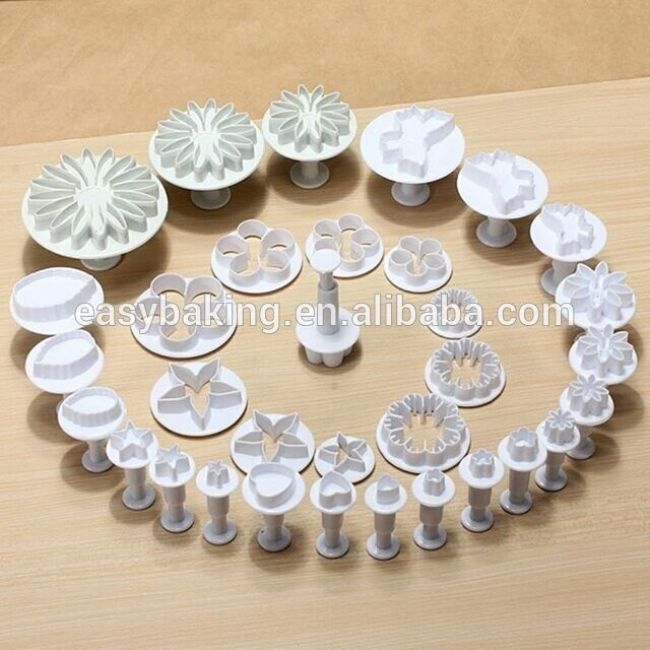 2016 Factory Direct Custom Plastic Plunger Cookie Cutter Set